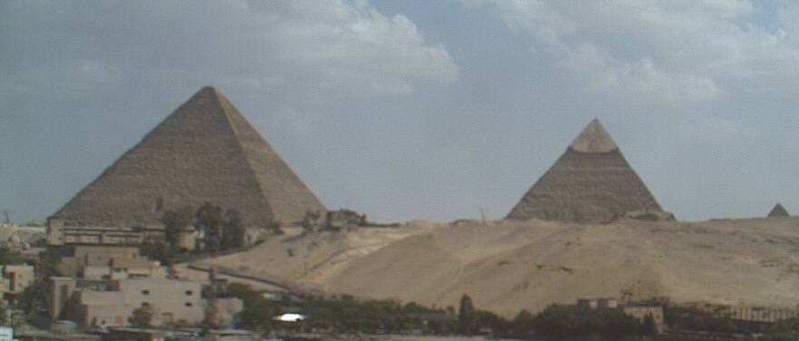 A favourite view from Le Méridien Pyramids